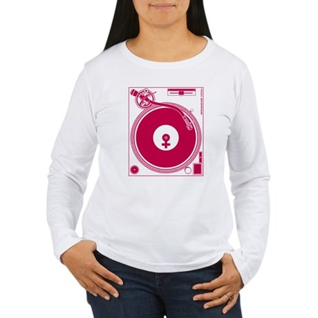 Female Turntable Women's Long Sleeve T-Shirt