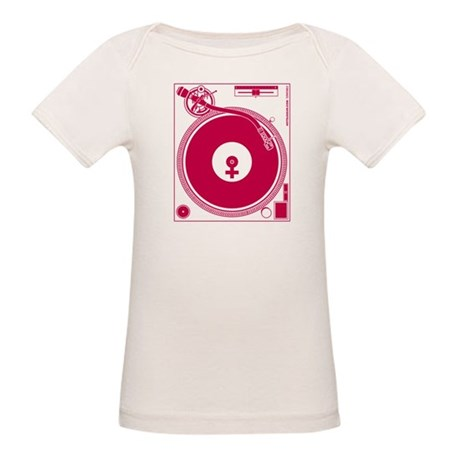 Female Turntable Organic Baby T-Shirt