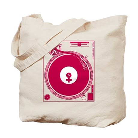 Female Turntable Tote Bag