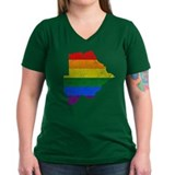 Botswana Rainbow Pride Flag And Map Shirt