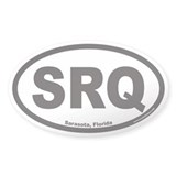 Sarasota Florida SRQ Airport Euro Oval Decal