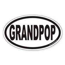 GRANDPOP Euro Oval Decal
