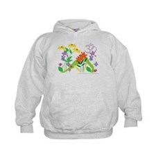 Humming Flowers by Nancy Vala Hoodie
