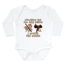 Cute Horse saddle Long Sleeve Infant Bodysuit