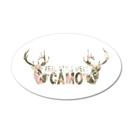 REAL GIRLS WEAR CAMO 20x12 Oval Wall Decal