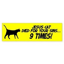 Jesus Cat Bumper Sticker