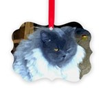 Blue Persian Cat Picture Ornament