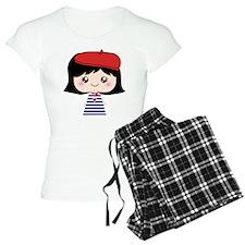 Cute French Girl cartoon Pajamas