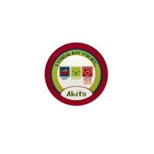 Akita Mini Button