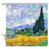 Van Gogh - Wheat Fields Shower Curtain