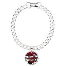 Roller Derby Heart Patch Look Bracelet