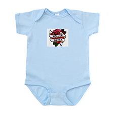 Roller Derby Heart Patch Look Infant Bodysuit
