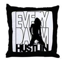 Everyday Im Hustlin - Sexy Black Silhouette Throw