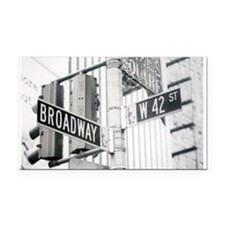 NY Broadway Times Square - Rectangle Car Magnet