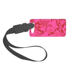 Pink Camo Luggage Tag