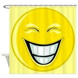 Big Smiley Face Shower Curtain