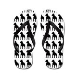Pitbull Silhouette Flip Flops In Black Flip Flops