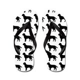 Labrador Retriever Silhouette Flip Flops In Black