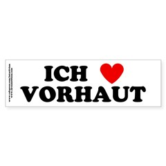 &quot;Ich leibe Vorhaut&quot; Sticker (Bumper 10 pk)