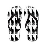 Great Dane Silhouette Flip Flops In Black Flip Flo