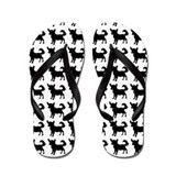 Chihuahua Silhouette Flip Flops In Black Flip Flop