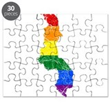 Malawi Rainbow Pride Flag And Map Puzzle
