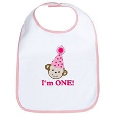 Im ONE Monkey Girl Bib