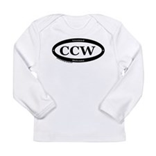 CCW Welcome, Black & White Long Sleeve Infant T-Sh