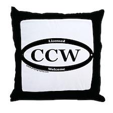 CCW Welcome, Black & White Throw Pillow