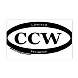 CCW Welcome, Black & White Wall Decal