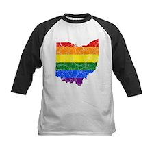 Ohio Rainbow Pride Flag And Map Tee