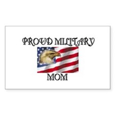 Proud Military mom... Rectangle Decal