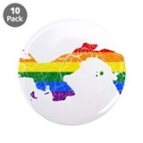"Panama Rainbow Pride Flag And Map 3.5"" Button (10"