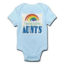Cute Lesbian aunts Infant Bodysuit