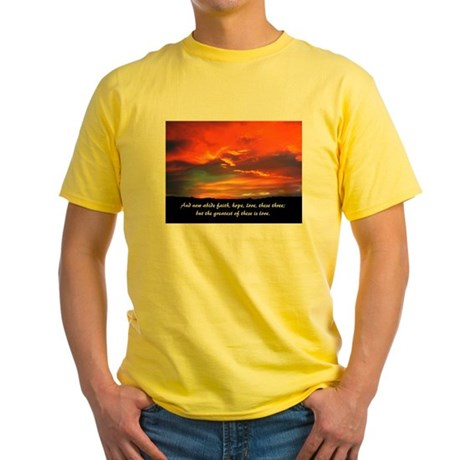 Faith Hope Love Yellow T-Shirt