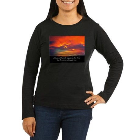 Faith Hope Love Women's Long Sleeve Dark T-Shirt