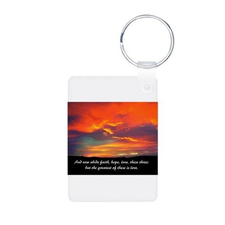 Faith Hope Love Aluminum Photo Keychain