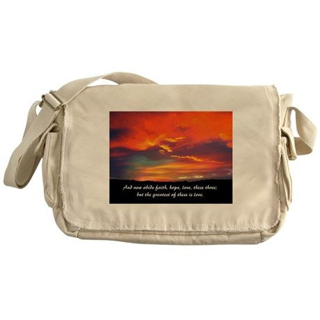 Faith Hope Love Messenger Bag