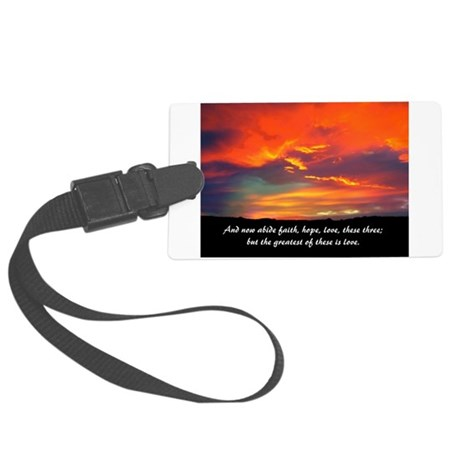 Faith Hope Love Large Luggage Tag