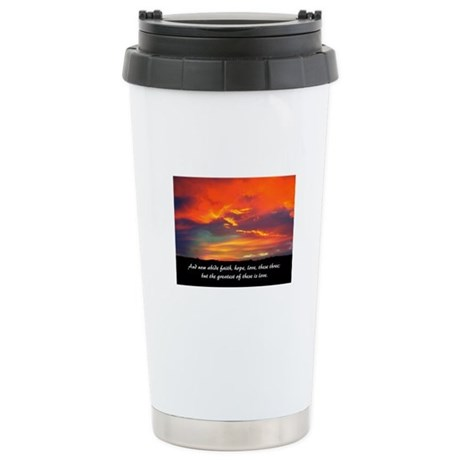 Faith Hope Love Ceramic Travel Mug