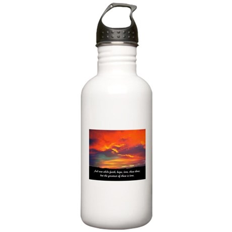 Faith Hope Love Stainless Water Bottle 1.0L