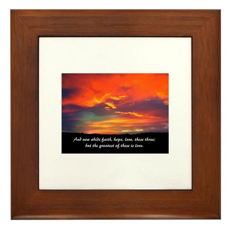 Faith Hope Love Framed Tile