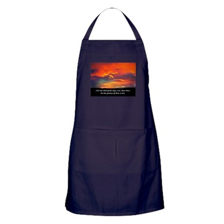 Faith Hope Love Apron (dark)