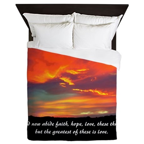 Faith Hope Love Queen Duvet