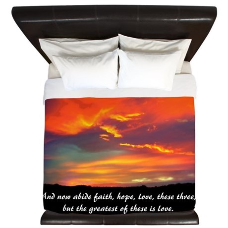 Faith Hope Love King Duvet