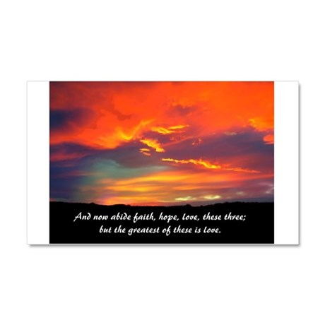 Faith Hope Love Car Magnet 20 x 12