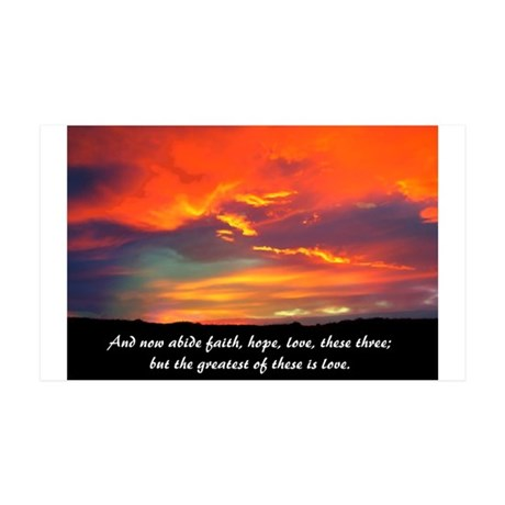 Faith Hope Love 35x21 Wall Decal