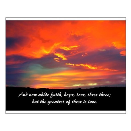Faith Hope Love Small Poster