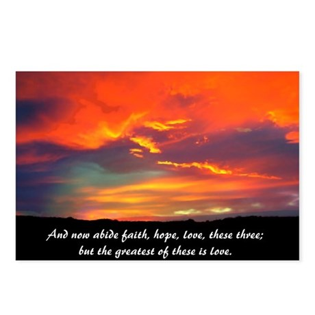 Faith Hope Love Postcards (Package of 8)