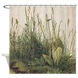 Albrecht Durer Great Piece Of Turf Shower Curtain